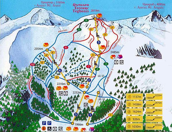 armenia narty mapa tras narciarskich