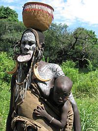 mursi etiopskie plemię