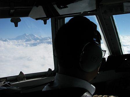 Mount Everest z samolotu